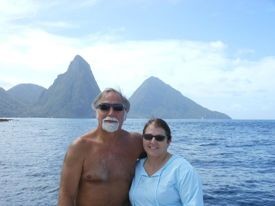 Julian Boat Tours: Us at the Pitons