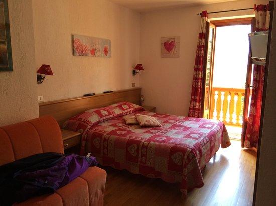 Hotel Chalet Plan Gorret : La nostra stanza con vista Monte Bianco