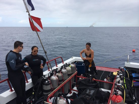 Kaimana Divers: Getting ready to dive.