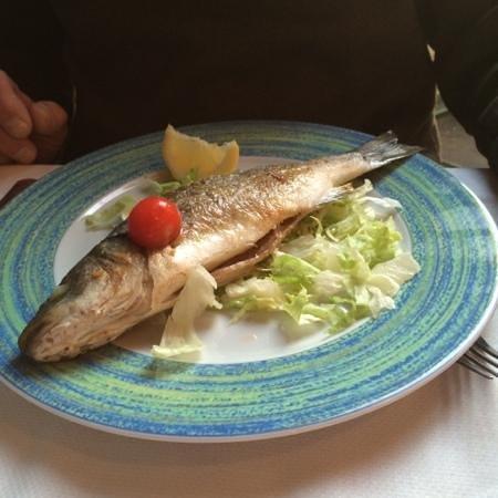 La Scogliera: broiled sea bass