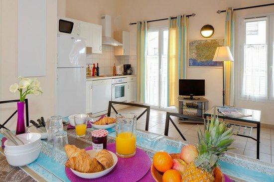 La Gabiniere: 2 pièces mezzanine - 5 personnes - Cuisine