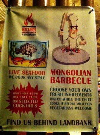 Macarios Mongolian Barbecue : 280pesos/pax