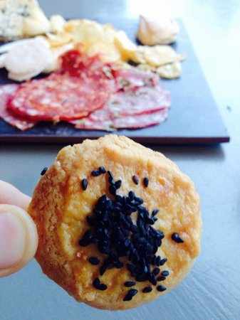 The Orchard Luxury B&B: Helen's home made parmesan biscuits