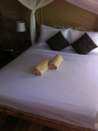 La Cocoteraie Ecolodge : comfy bed