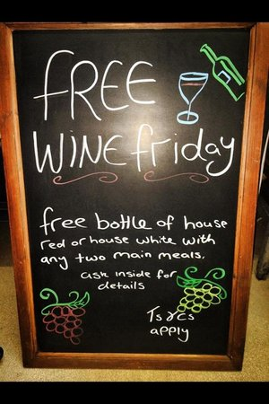 Ayur at Pilgrims: Free bottle of wine on Friday with two main meals