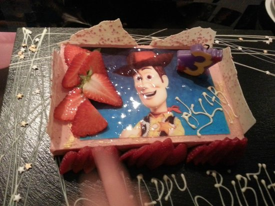 Hotel Arts Barcelona: A birthday cake for our little one courtesy of the lovely hotel staff!