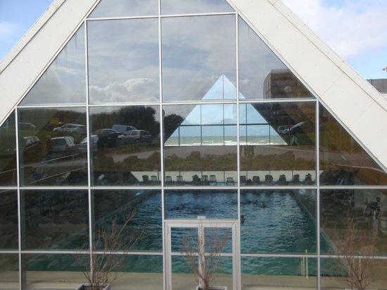 Thalassa Le Touquet: vu exterieure de la piscine
