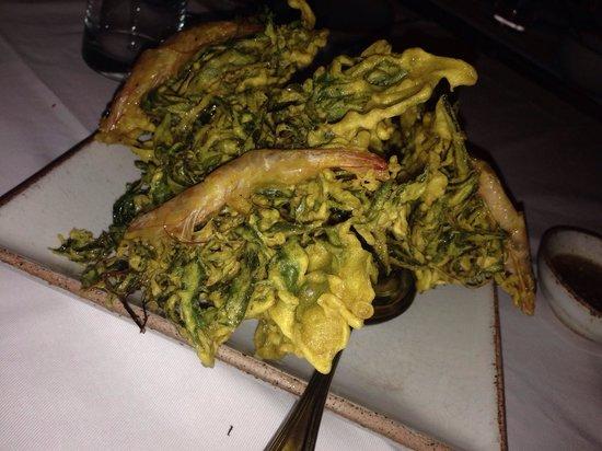 Kan Eang@Pier Restaurant : Appetizer prawn and veggie