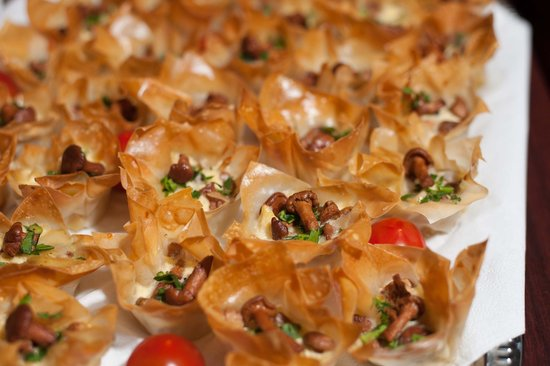 Pinavija Cafe & Bakery: Baskets with mushrooms