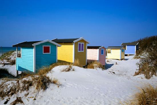 Skane County, Sweden: Beach cabins in Skanör, South west of Skåne. Photo: Birger Lallo