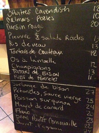 L'Affaire Est Ketchup : Menu from April 4, 2014