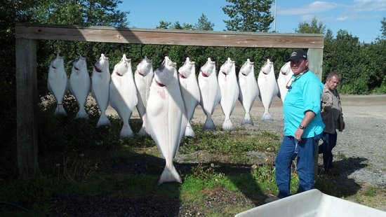 Russell Fishing Company : Cook inlet halibut caught with Russell fishing owner