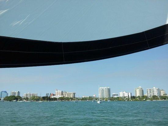 Key Sailing: Panorama of Sarasota from Key Breeze