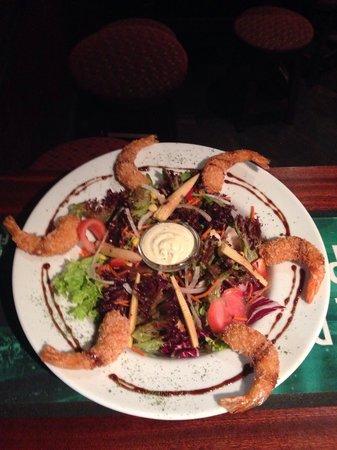 Shamrock Irish Pub : New shrimp tail salad with citrus drizzle!