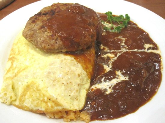 UCC COFFEE SHOP: ucc cafe - rice omelette with patty 2