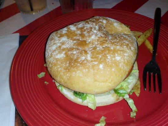 Captain Americas: Un des hamburgers de ce restaurant