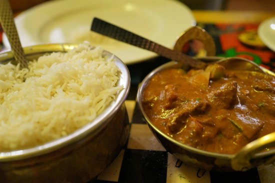 Indiyum Fair Dinkum Indian: curry with rice