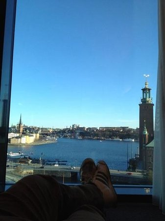 Radisson Blu Waterfront Hotel: enjoying the view from my room