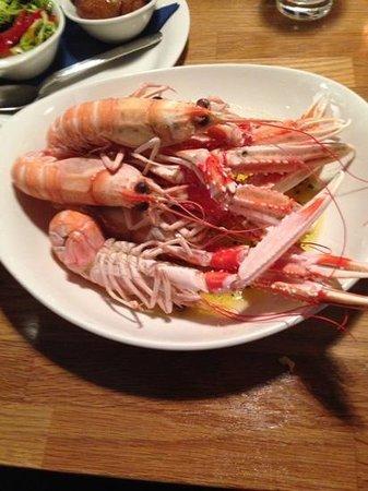 Crannog Seafood Restaurant: langostines
