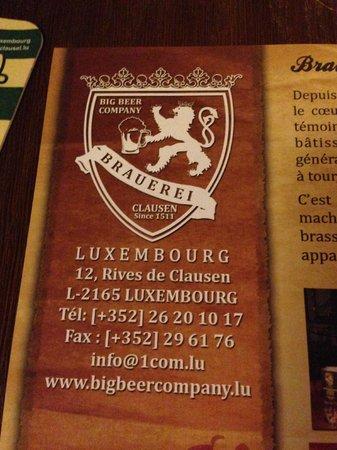 Brauerei - Big Beer Company : indirizzo