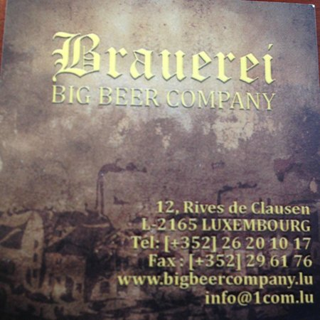 Brauerei - Big Beer Company : biglietto