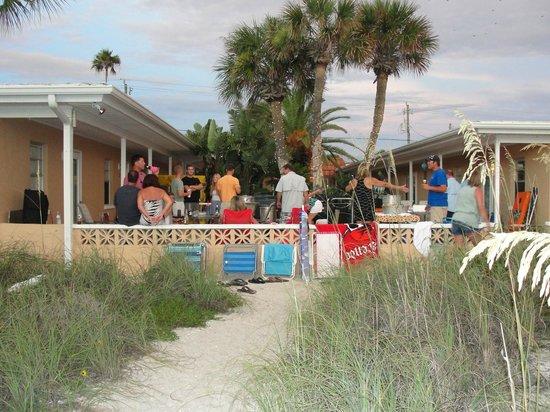 A Beach Retreat on Casey Key: The main courtyard