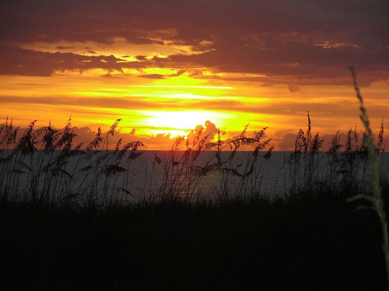 A Beach Retreat on Casey Key: Gorgeous Sunset from the courtyard