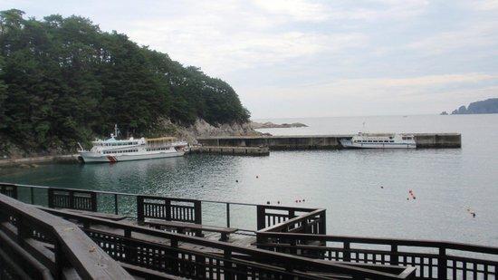 Miyako Jodogahama Boat Cruise : 津波が來るとき、沖に避難して助かった観光船