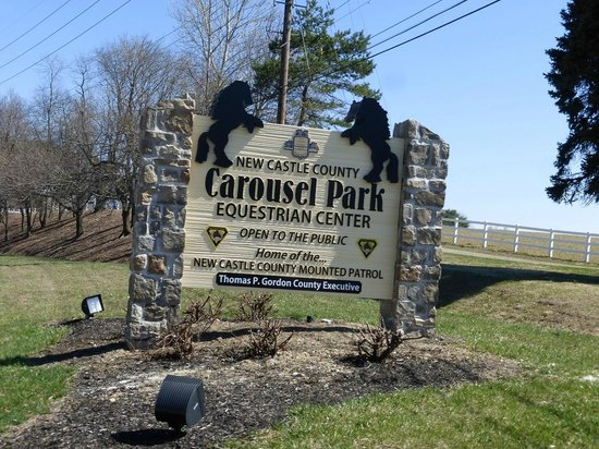 Carousel Park Equestrian Center Sign