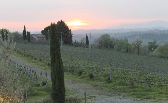 Le Fonti a San Giorgio: Tramonto d'aprile