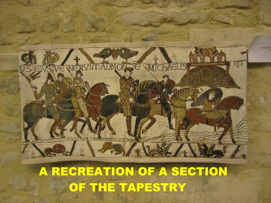 Musée de la Tapisserie de Bayeux : THIS IS A RECREATION AS ACTUAL PHOTOS ARE NOT ALLOWED