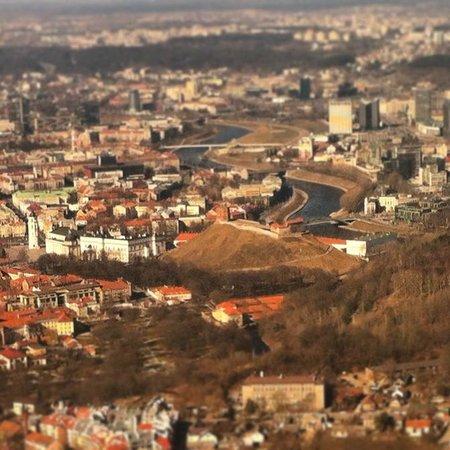Gediminas Tower : Вид из самолёта