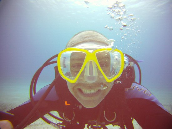 The Reef Marina: Happy diver!