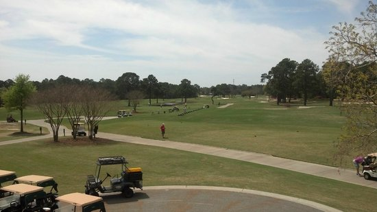 Gulf Shores Golf Club : Looking at the Range from the upper deck of the clubhouse.