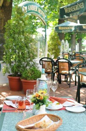 Amber Hotel Chemnitz Park: Biergarten