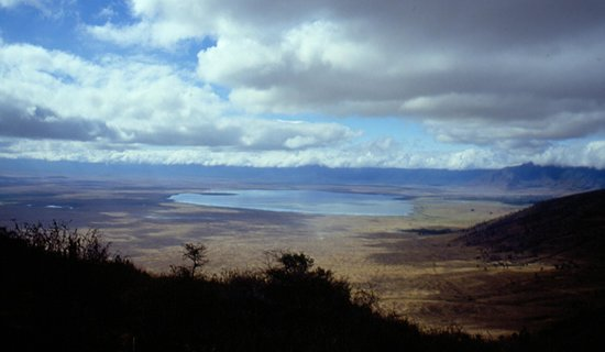 Empakaai Crater: cratere dall'alto