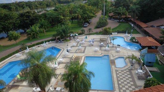 Hotel Sesc Porto Cercado: Vista aérea da piscina