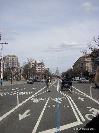 City Segway Tours of Washington, DC: segaways travel in the bike lane