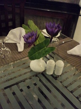 Amaara Sky Hotel Kandy : Table Decor at the Dinning Area