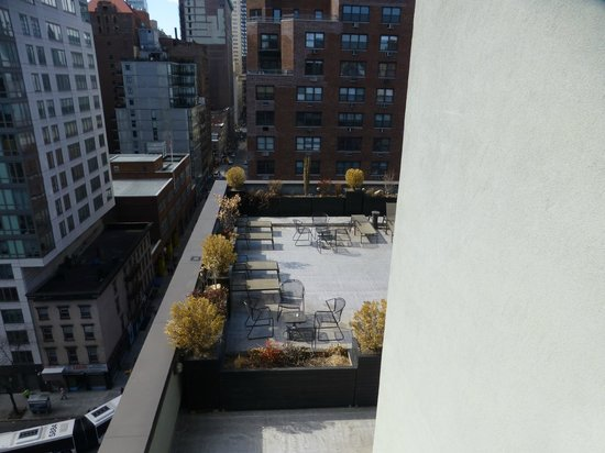 The Marcel at Gramercy : View across terrace on 10th floor from our balcony.