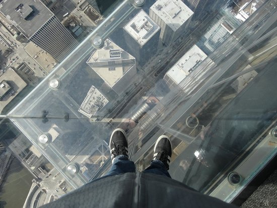 Skydeck Chicago - Willis Tower : The view