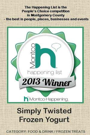 Simply Twisted Frozen Yogurt: 2013 Montco Happening Winner