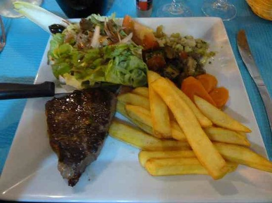 Le Tournebroche : Steak Salat Pommes