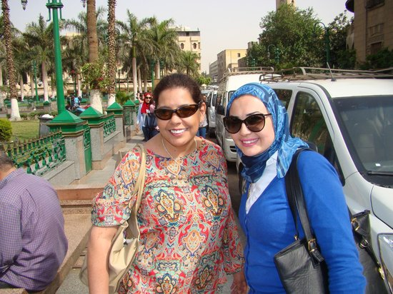 Cairo-Overnight Tours : Our Guide and I after some shopping in the market