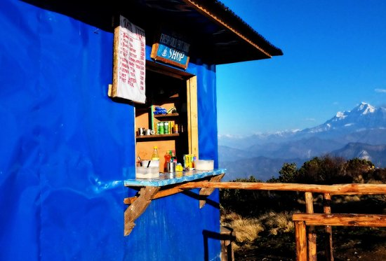 Poon Hill: small shop