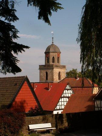 SVG Rasthaus Diemelstadt Inh. Gebruder Bremer : Blick vom Schloß auf den Kirchturm