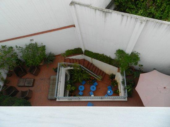 Hotel Plaza Santa Lucia: de patiotuin van het hotel