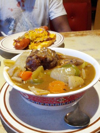 Ken's House of Pancakes: Oxtail Soup and Hot Dog