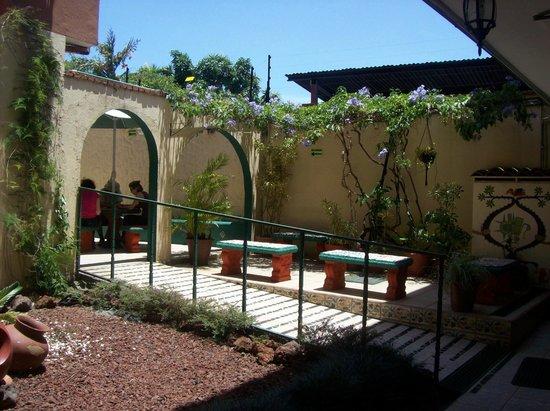 Intercultura Language School and Cultural Center: Sunny courtyard