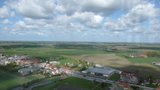 Yser Tower : View towards Trench of Death